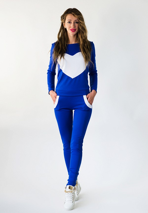 женский спортивные спортивный костюм подіум, синий