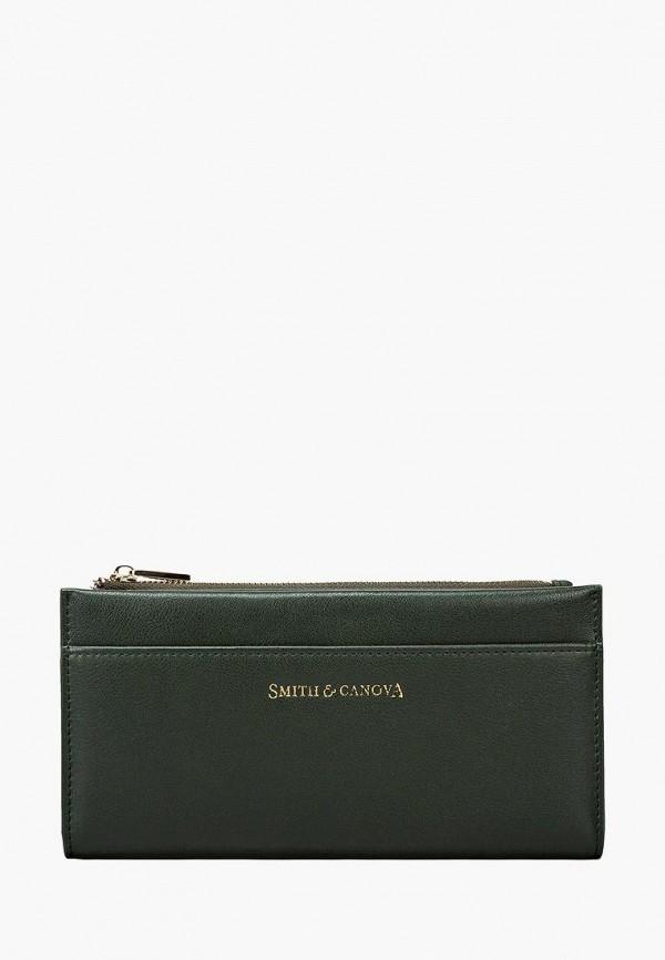 женский кошелёк smith&canova, зеленый