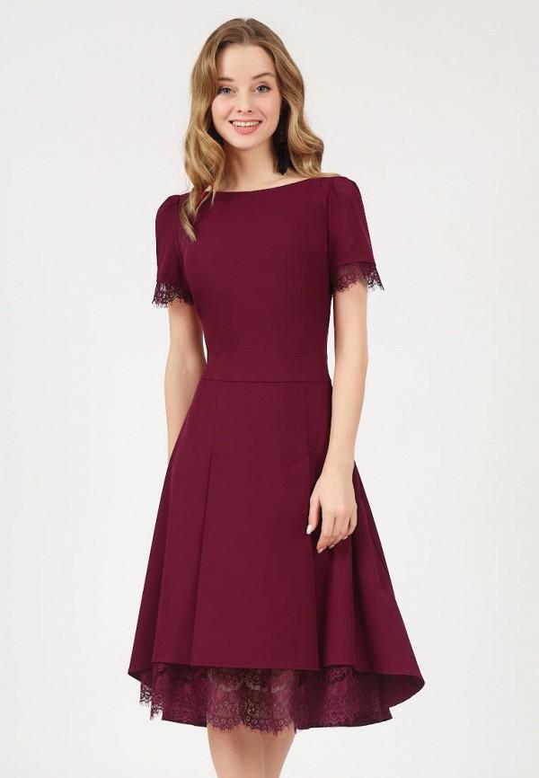 женское платье marichuell, бордовое