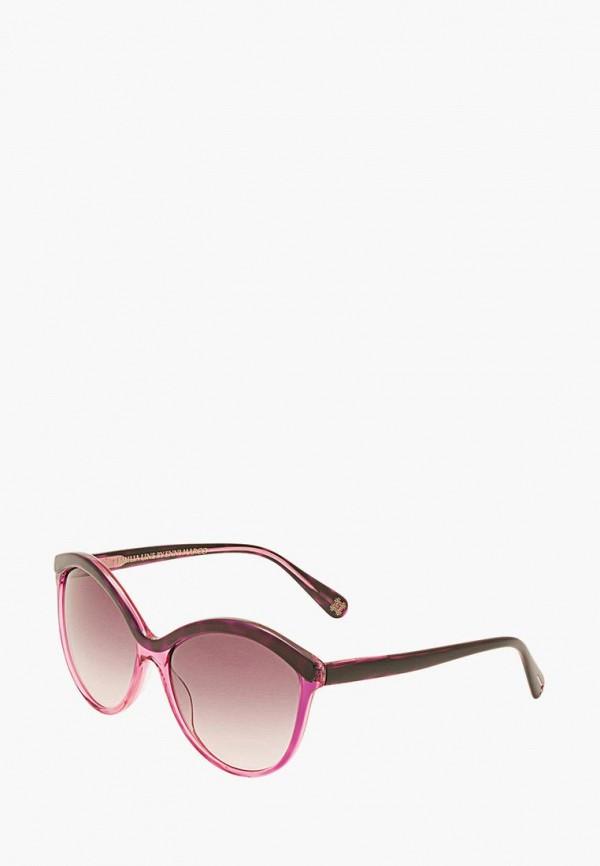 женские солнцезащитные очки enni marco, розовые