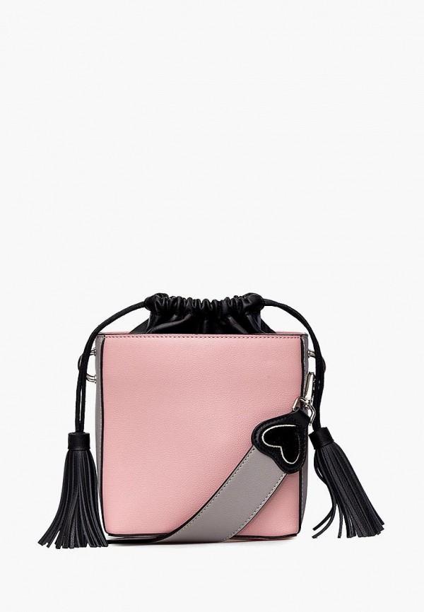женская сумка через плечо labbra, розовая