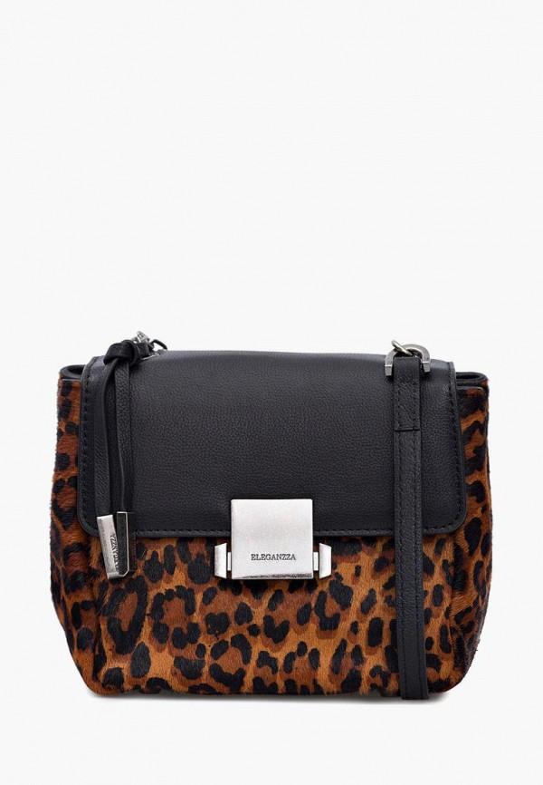 женская сумка eleganzza, коричневая