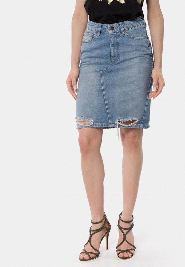 женская джинсовые юбка mr520, голубая