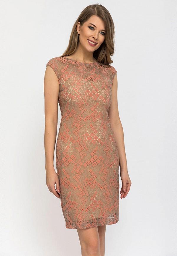 женское вечерние платье gloss, бежевое