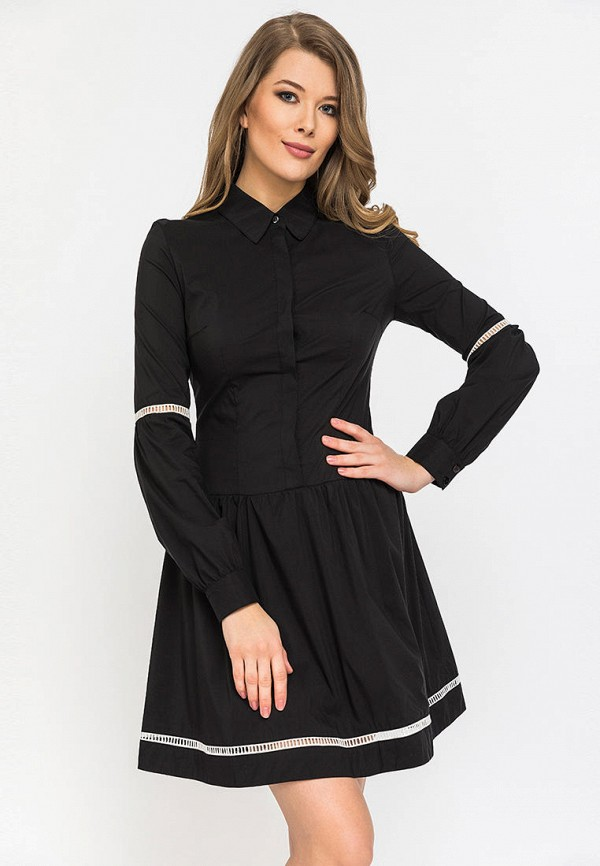 женское платье gloss, черное
