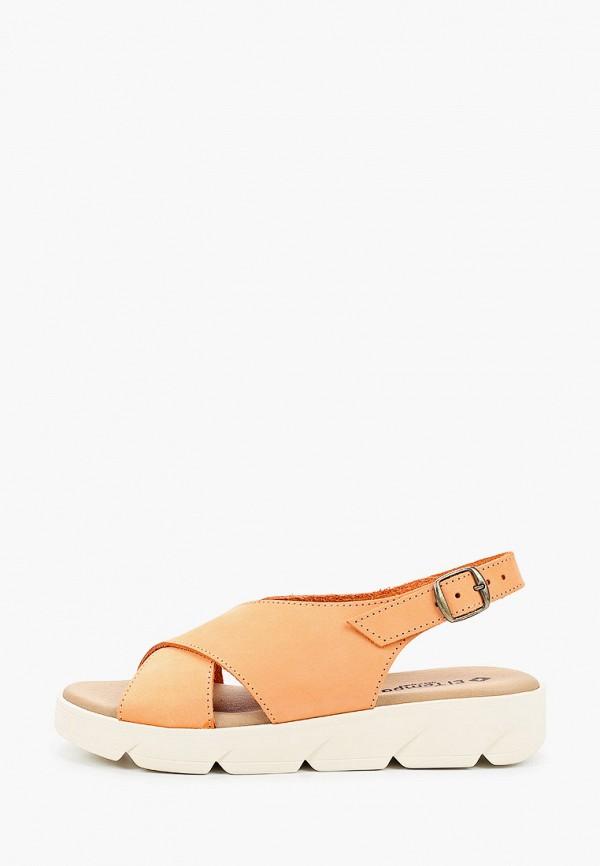 женские сандалии el tempo, желтые