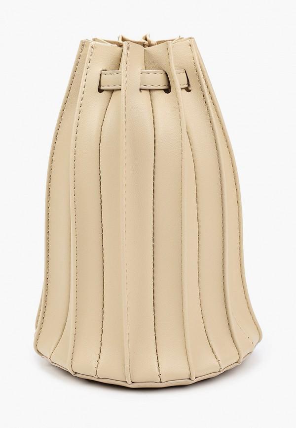 женская сумка-ведро bacio bella, белая