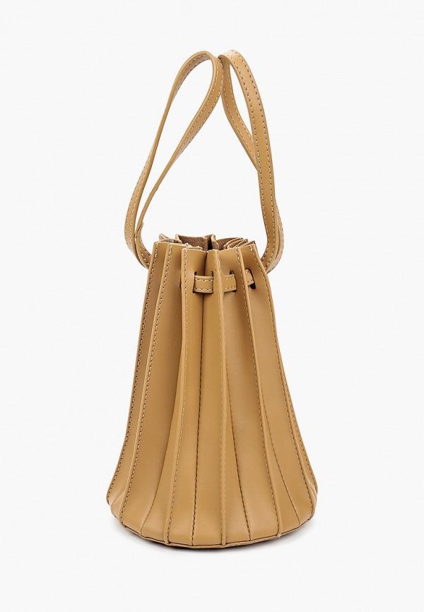 женская сумка-ведро bacio bella, бежевая