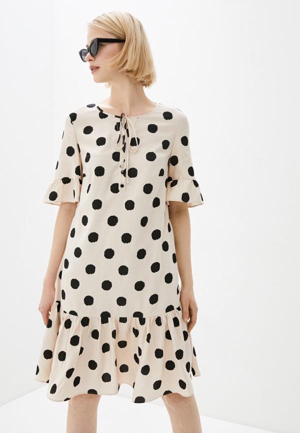 Платье ASV Fashion Design ASV Fashion Design  бежевый фото