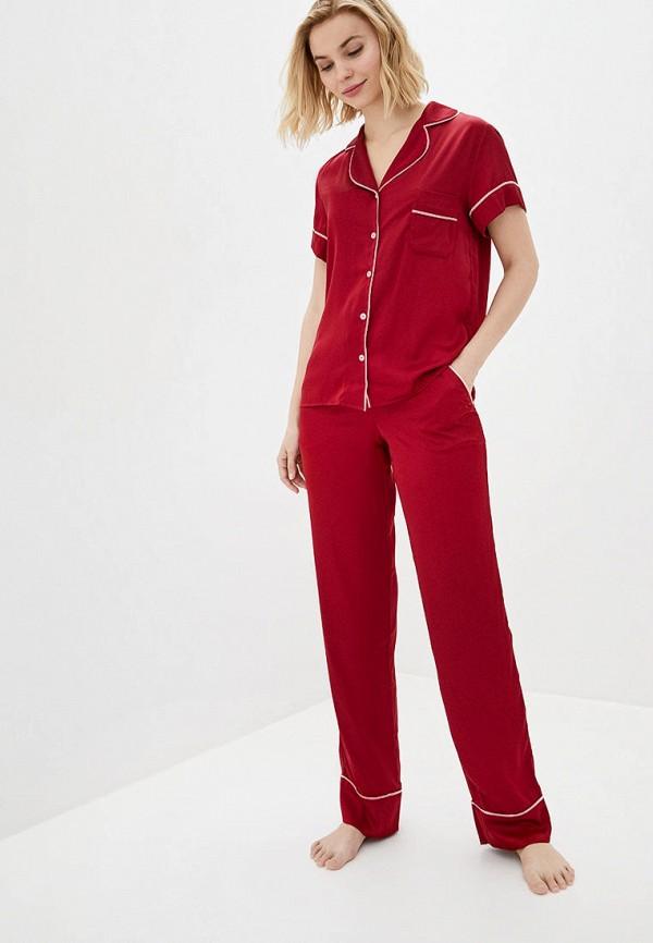 женская пижама natalia bas, красная