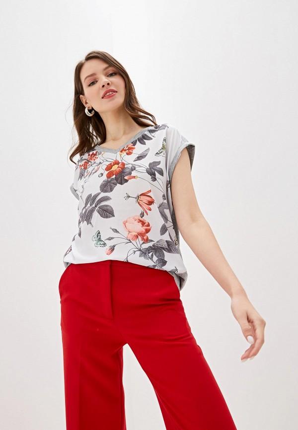 женская футболка la fleuriss, серая