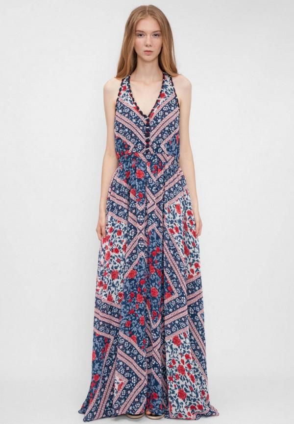 женское повседневные платье pepe jeans london, разноцветное