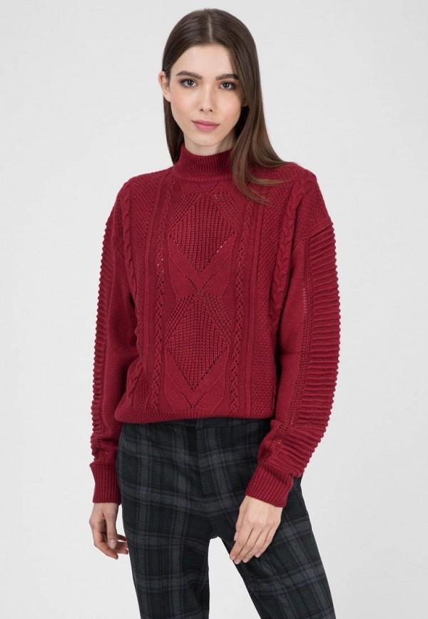 женский свитер pepe jeans london, бордовый