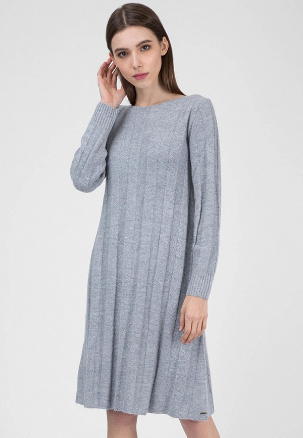 женское повседневные платье pepe jeans london, серое