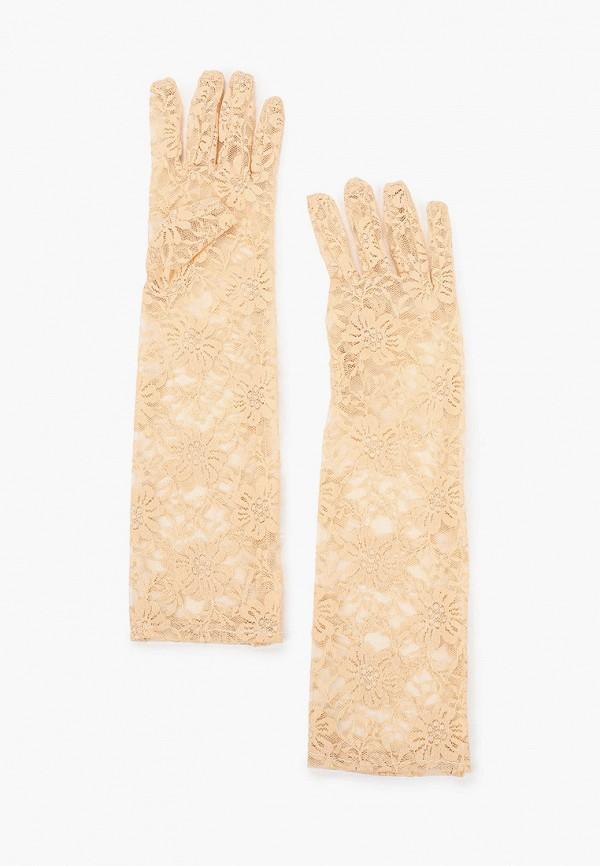 женские текстильные перчатки le cabaret, бежевые