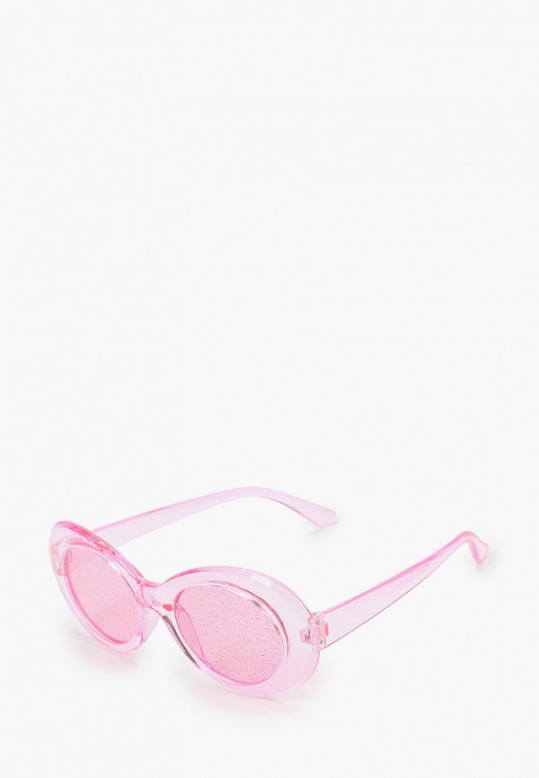 женские круглые солнцезащитные очки красная жара, розовые
