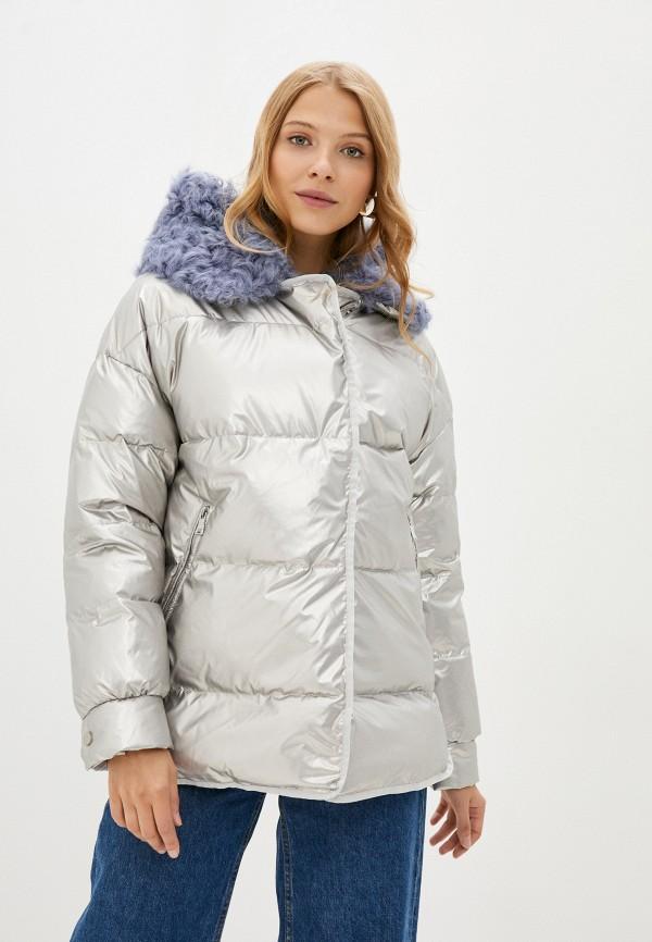 женская утепленные куртка pantamo, серебряная