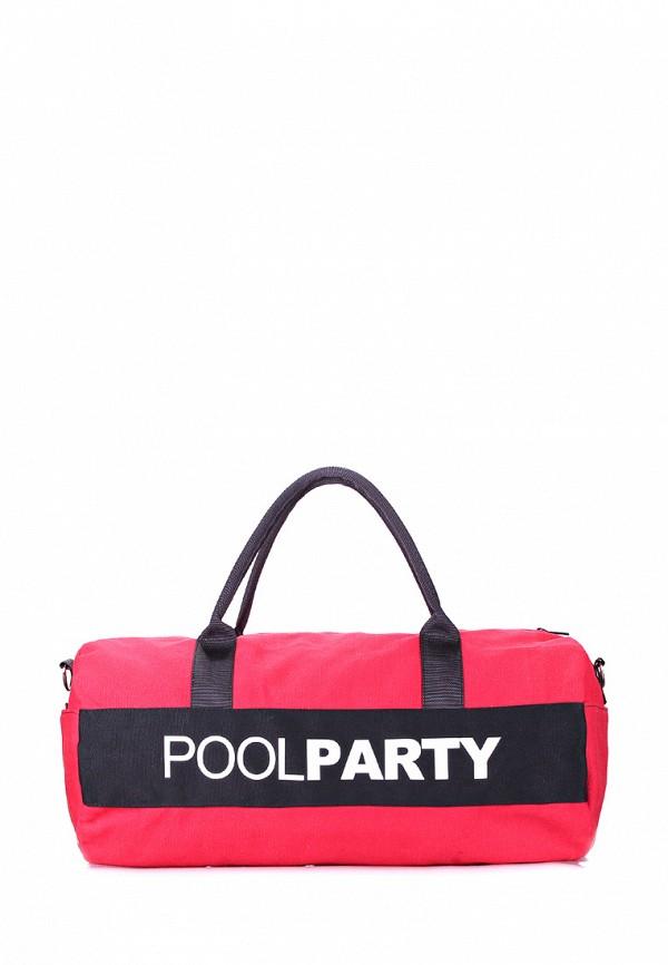 женская сумка poolparty, красная
