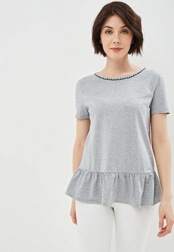 женская футболка incity, серая