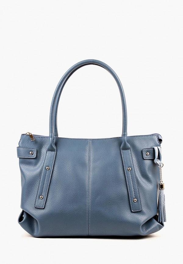 женская сумка медведково, голубая