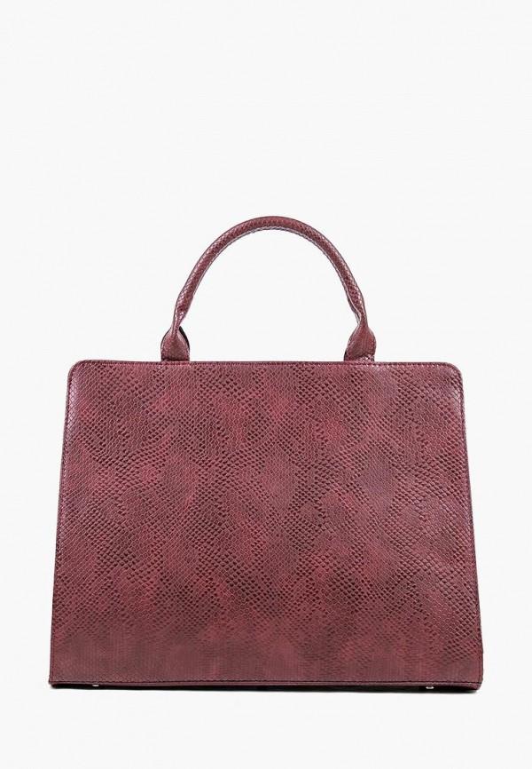 женская сумка медведково, бордовая
