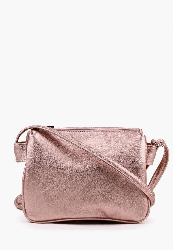 женская сумка медведково, розовая