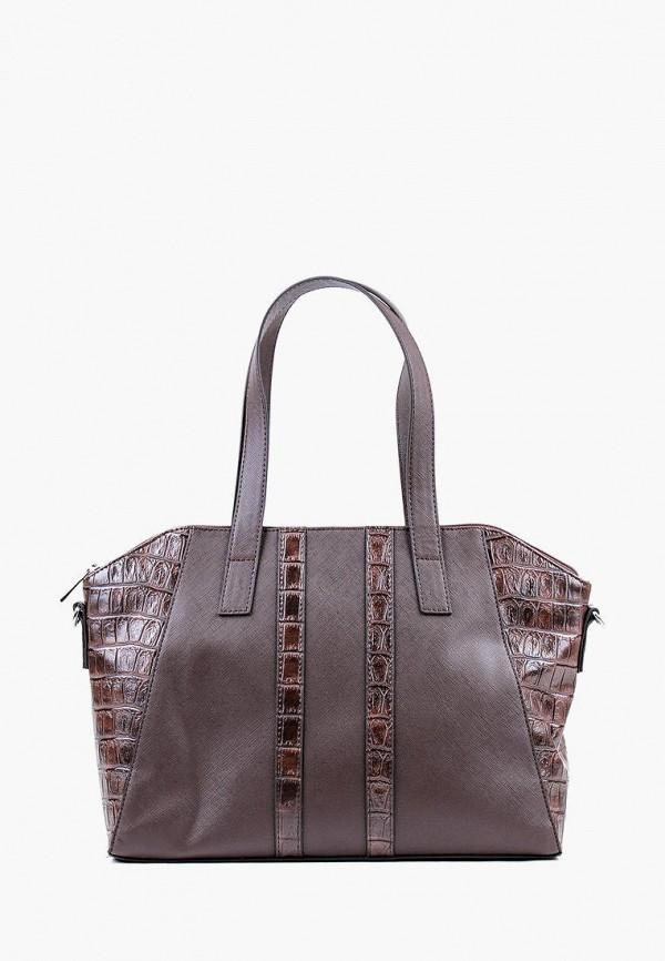 женская сумка медведково, коричневая