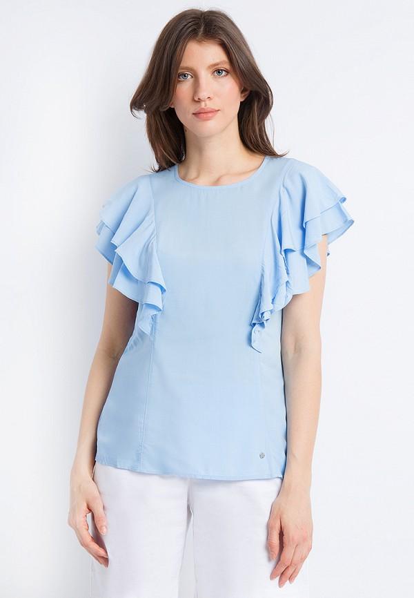 Купить Блуза Finn Flare, mp002xw0xjwd, голубой, Весна-лето 2018