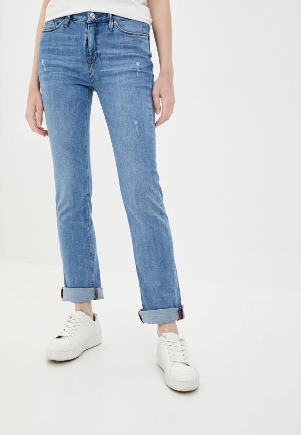 женские прямые джинсы colin's, голубые
