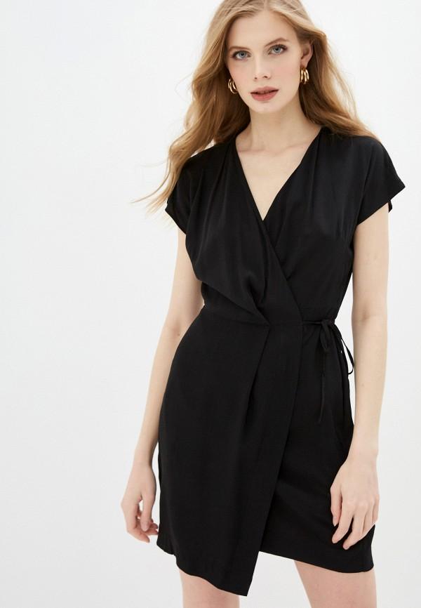 женское платье с запахом befree, черное