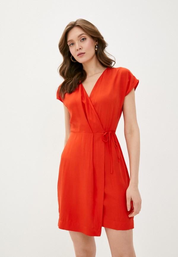 женское повседневные платье befree, красное