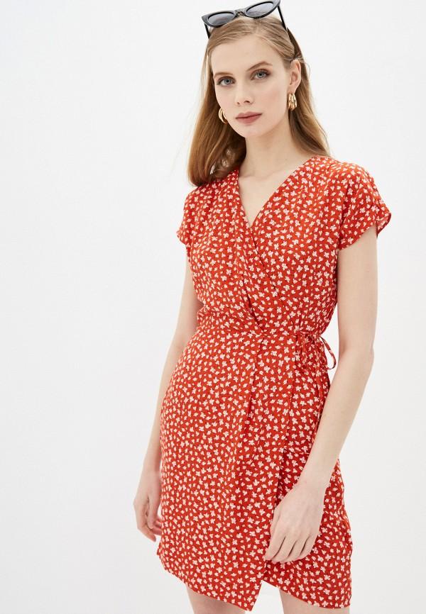 женское платье с запахом befree, красное