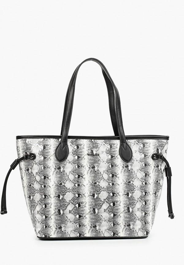 женская сумка с ручками vitacci, серая