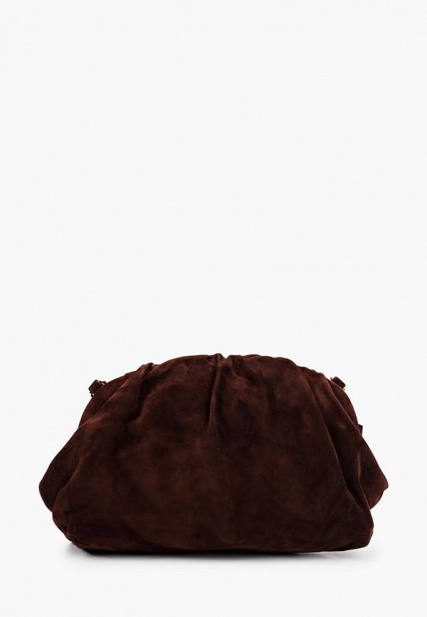 женский клатч vitacci, коричневый