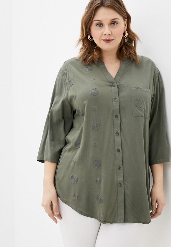 женская блузка с длинным рукавом d'lys, хаки
