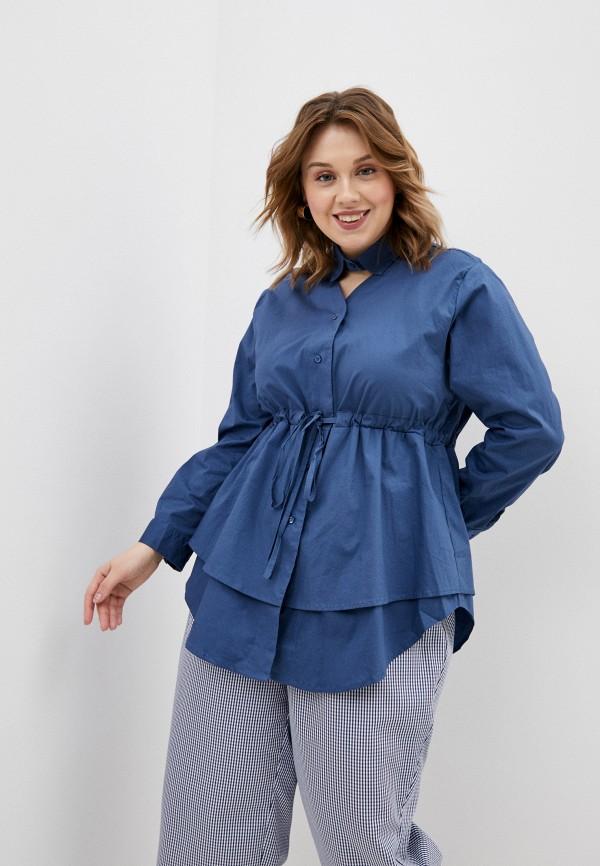 женская блузка с длинным рукавом d'lys, голубая