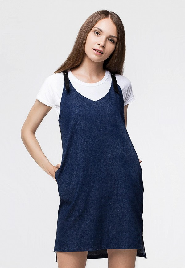 женское джинсовые платье benoni, синее