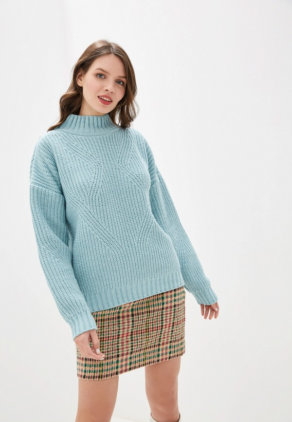 женский свитер leotex, голубой
