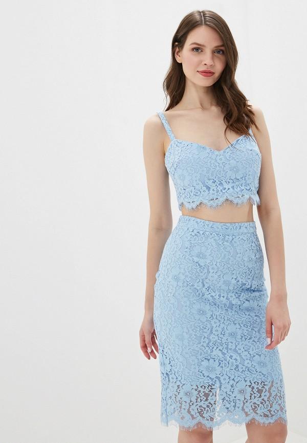 женский костюм self made, голубой