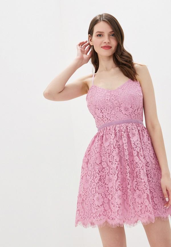 женское платье self made, розовое
