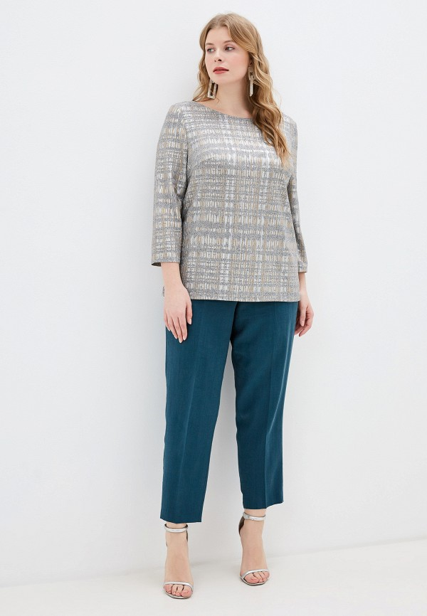 Фото 2 - Женскую блузку Montebella Style серого цвета