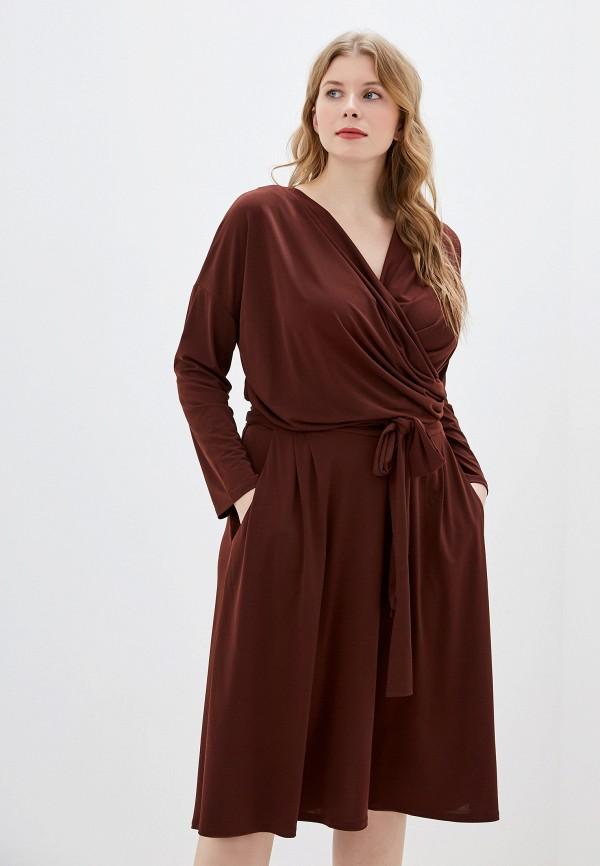 Фото - Женское платье Montebella Style коричневого цвета