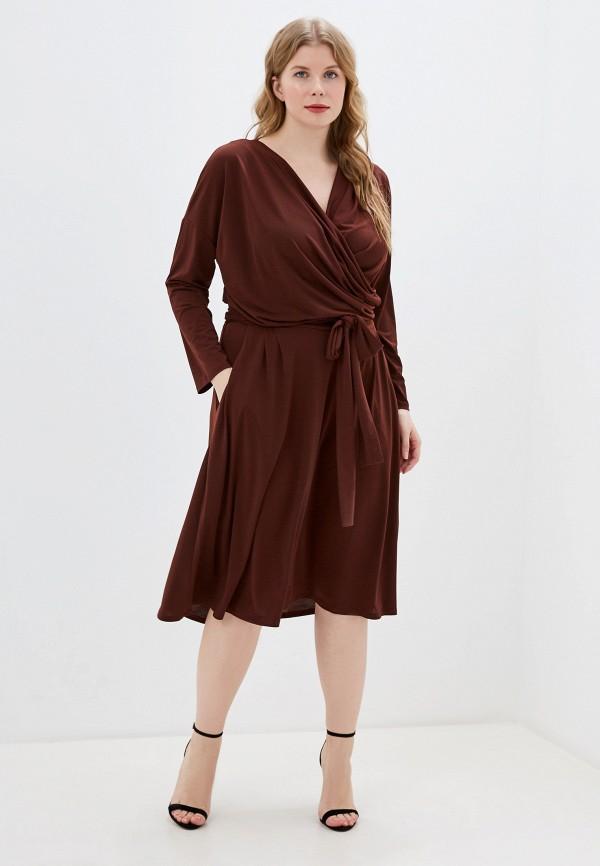 Фото 2 - Женское платье Montebella Style коричневого цвета