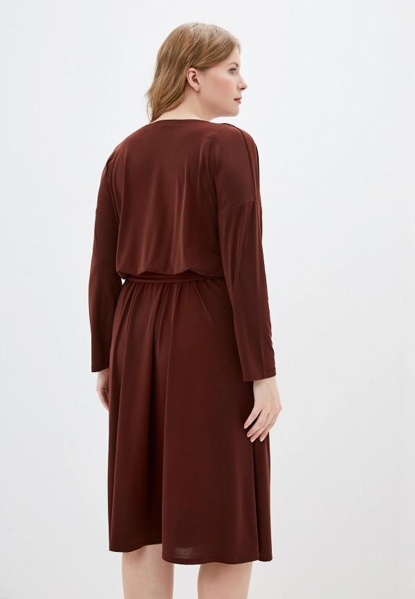 Фото 3 - Женское платье Montebella Style коричневого цвета