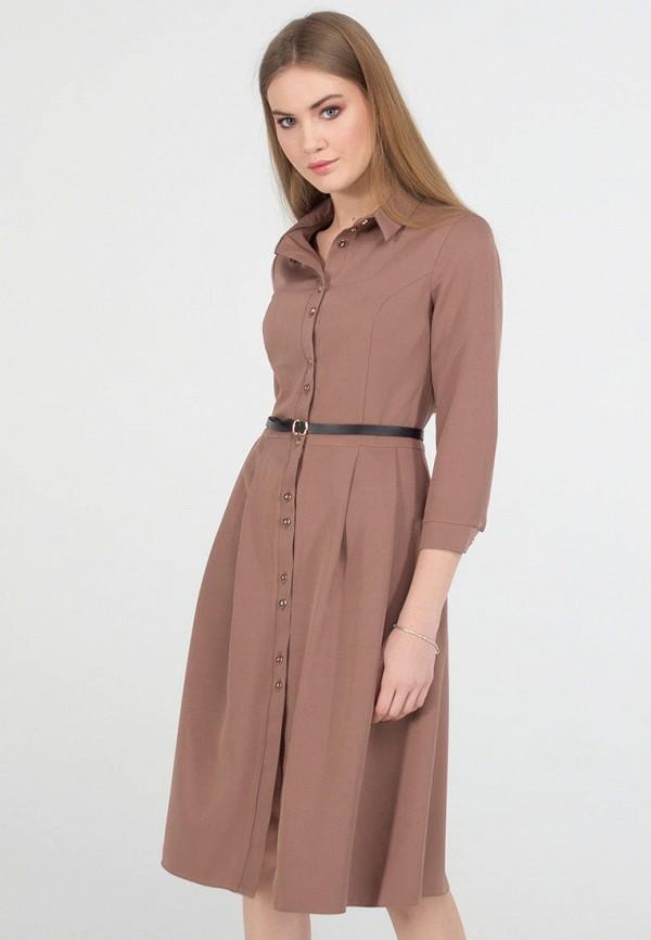 женское платье миди viravi wear, коричневое