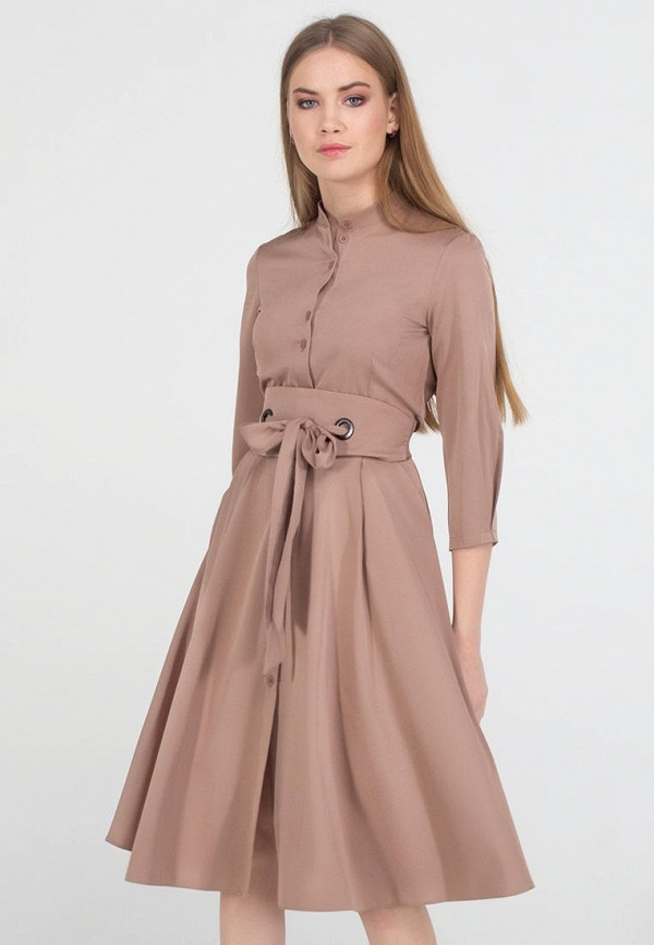 женское платье миди viravi wear, бежевое