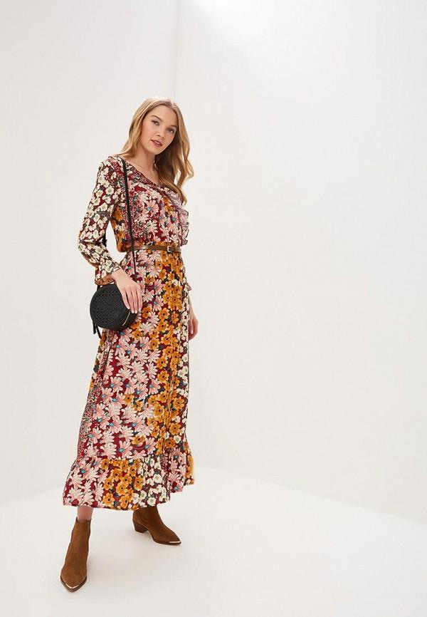 женское повседневные платье top secret, бордовое