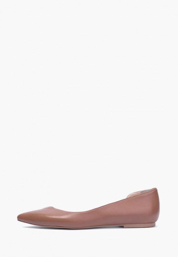 женские балетки lookie, коричневые