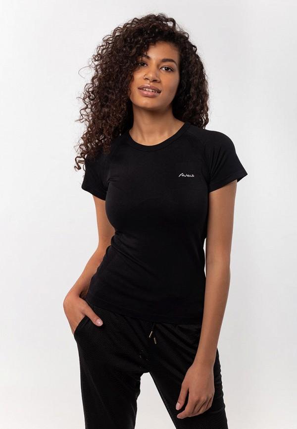 женская спортивные футболка avecs, черная