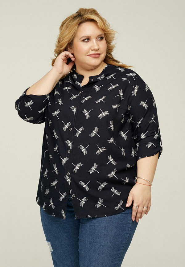 женская блузка gorda bella, черная